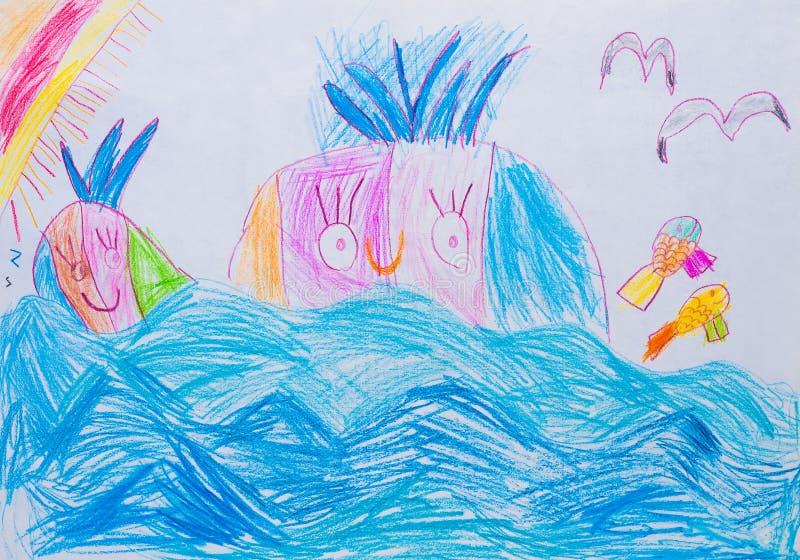 Download Чертеж детей иллюстрация штока. иллюстрации насчитывающей мило - 33192851