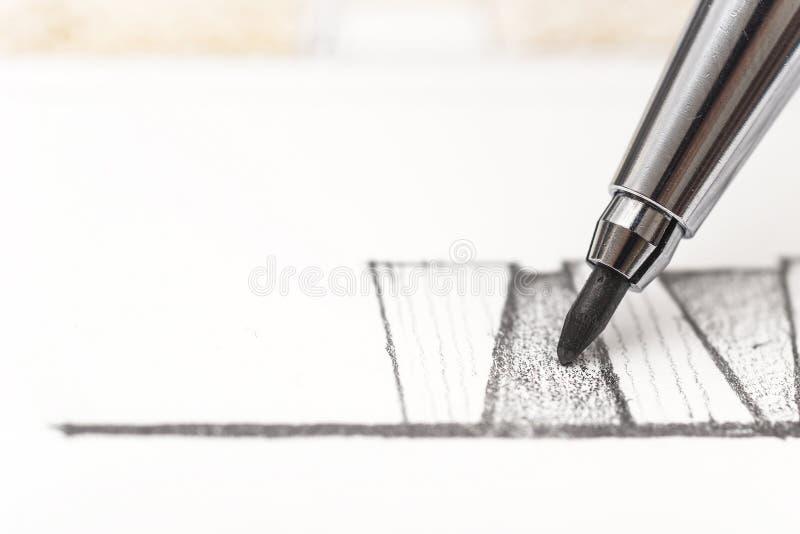 чертеж зодчества стоковые фото