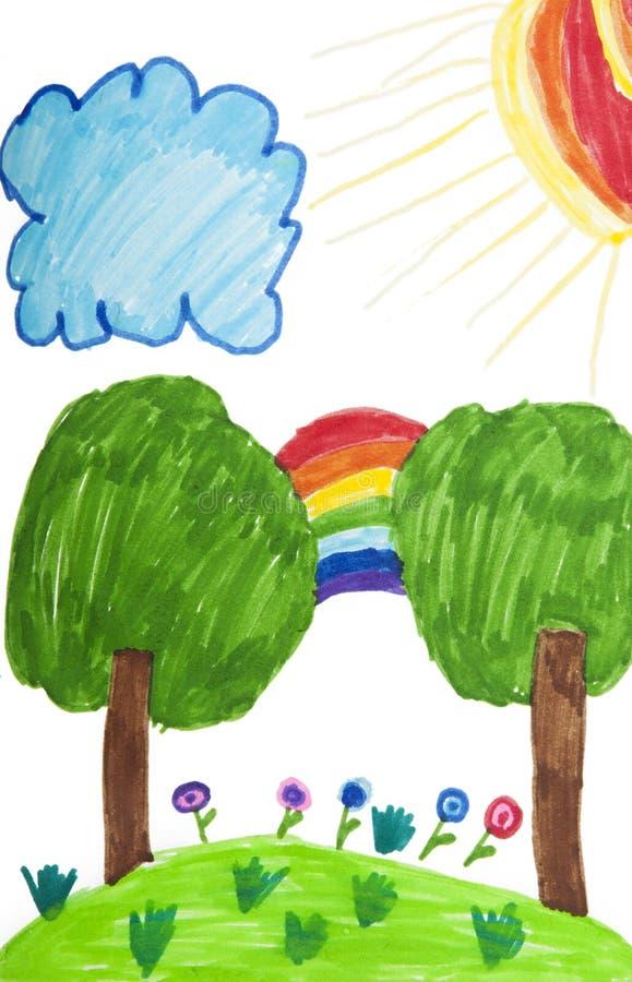 чертеж ребенка стоковая фотография