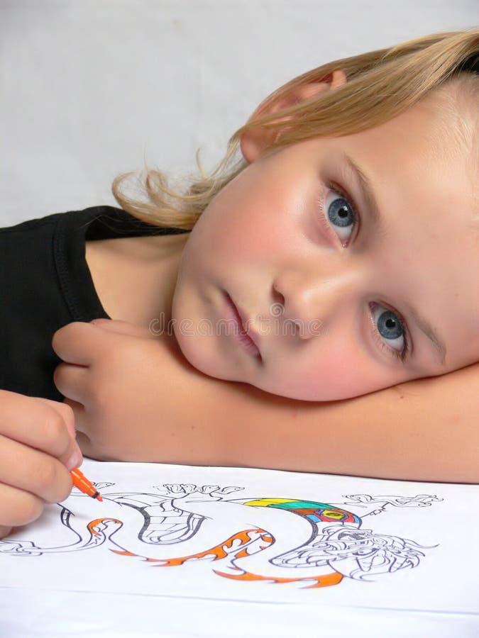 чертеж ребенка стоковая фотография rf