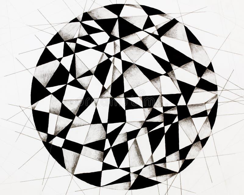 Чертеж руки линии форм иллюстрация штока