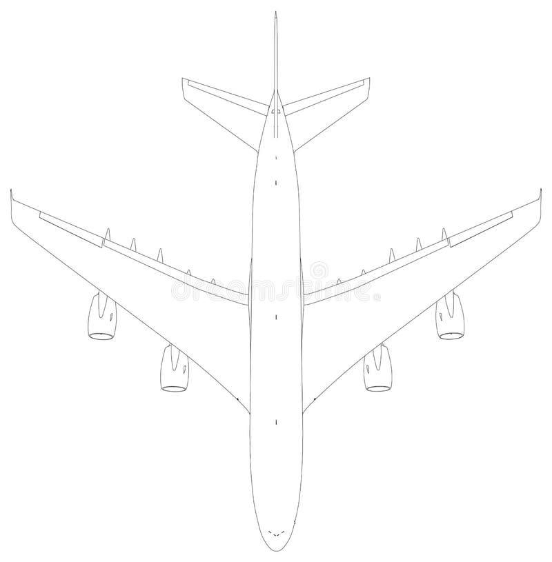 картинки как нарисовать самолет сверху факту, это разделение