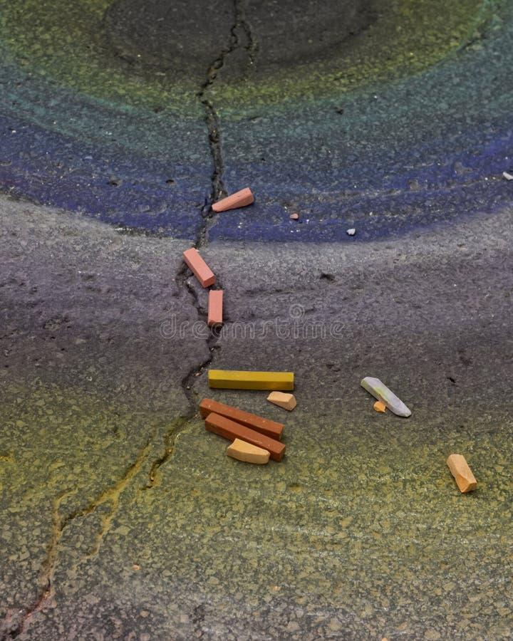 Чертеж тротуара мела стоковые изображения rf