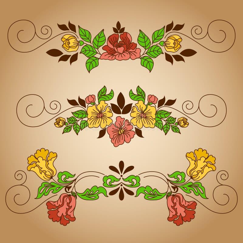 Чертеж цветет виньетка иллюстрация штока