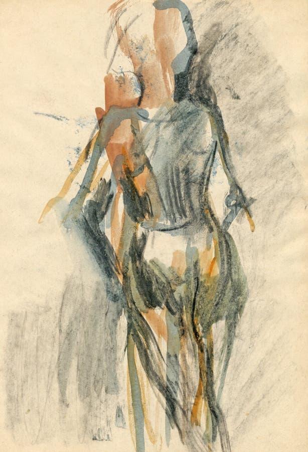 чертеж 4 балерин иллюстрация вектора