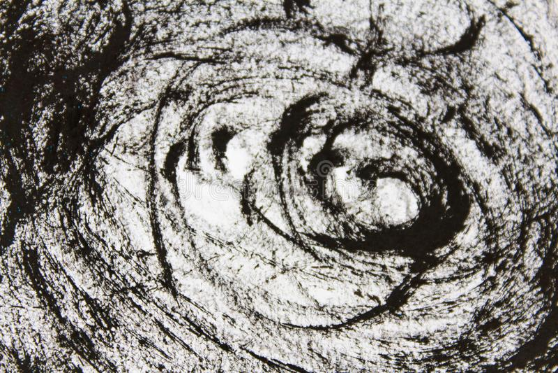 Чертеж Scribble в черноте стоковое фото rf