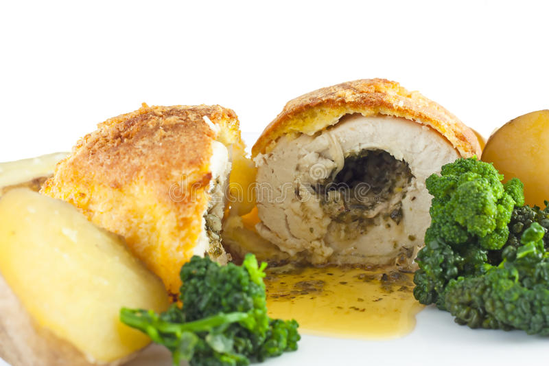 чеснок kiev цыпленка стоковые изображения