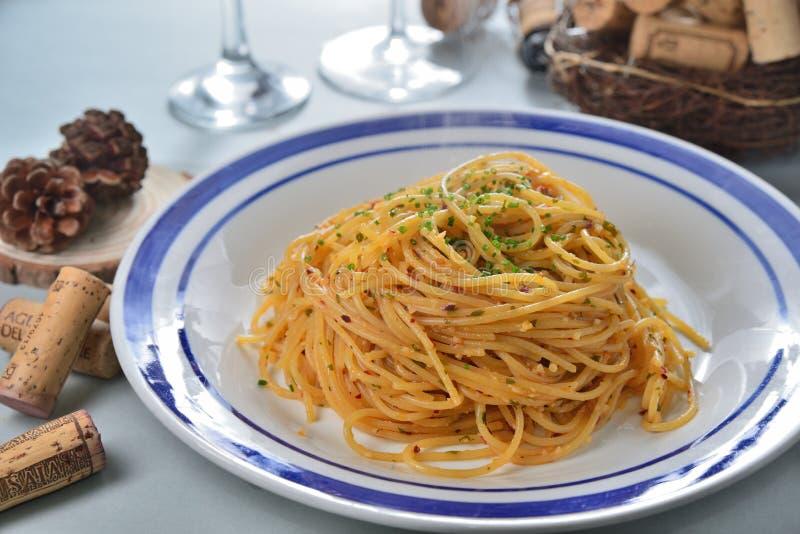 Чеснок Spagetti стоковые фотографии rf