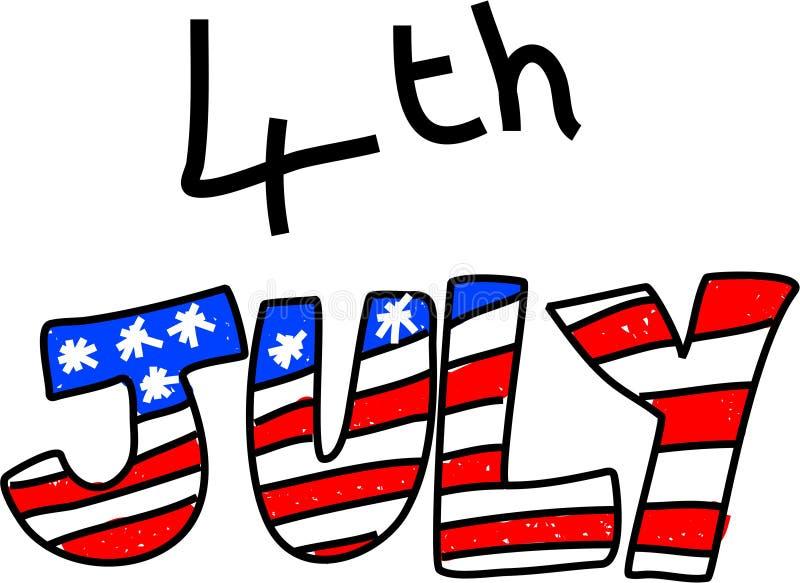 четвертое -го июль бесплатная иллюстрация