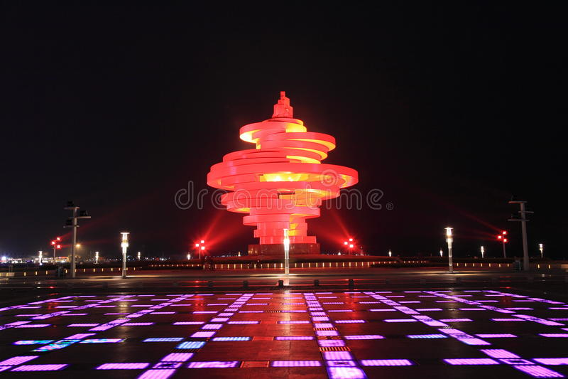 Четвертом -го квадрат в мае Qingdao стоковое изображение
