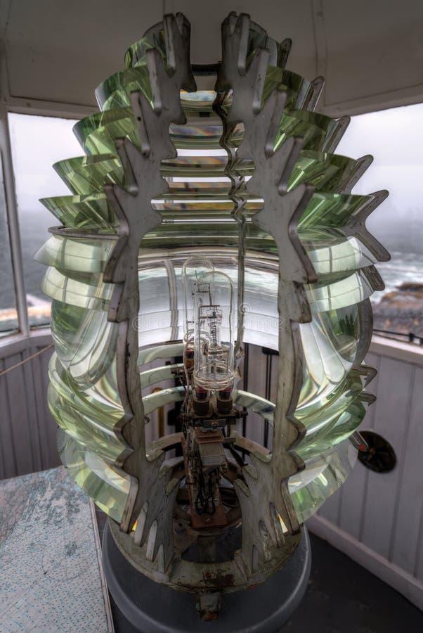 Четвертый заказ Fresnel маяка пункта Pemaquid стоковое изображение rf