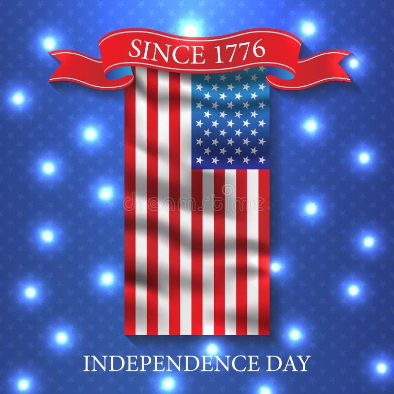 Четверть Дня независимости США в июле вектор предпосылки патриотический бесплатная иллюстрация