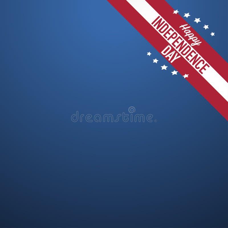 Четверть Дня независимости США в июле счастливого иллюстрация вектора