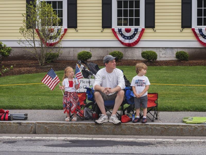 Четверть семьи в июле стоковое изображение rf