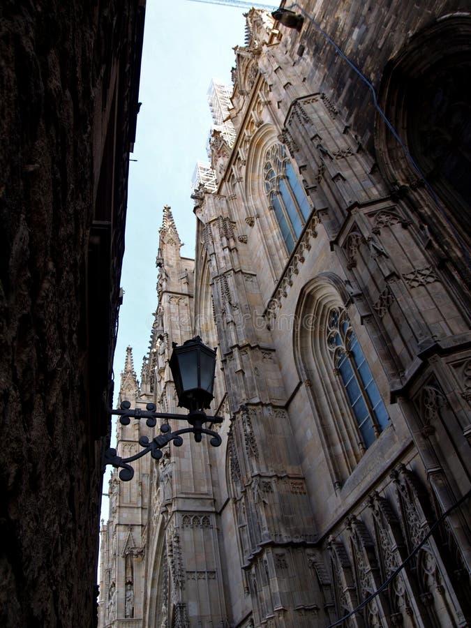 четверть barcelona готская стоковое изображение