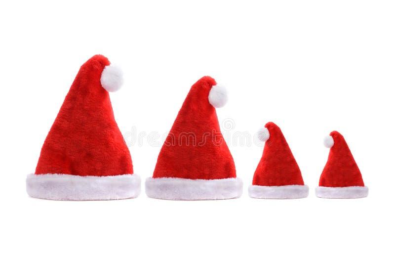 Четыре концертные шляпы сантаны стоковое изображение