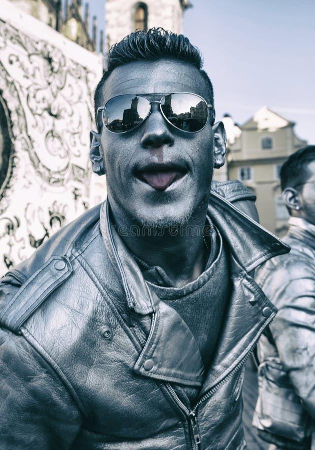 ЧЕХИЯ - 7-ОЕ ФЕВРАЛЯ 2015: Carnevale Прага 2015 на старой городской площади стоковое изображение