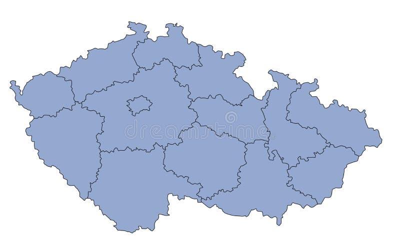 чехословакская республика карты иллюстрация вектора