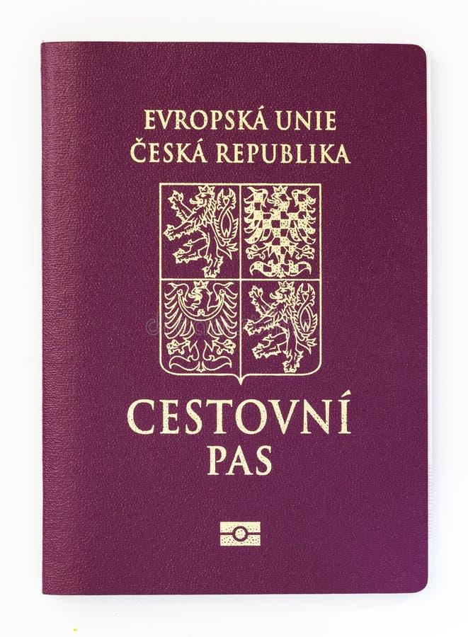 Чехословакский пасспорт изолированный на белой предпосылке стоковое изображение rf