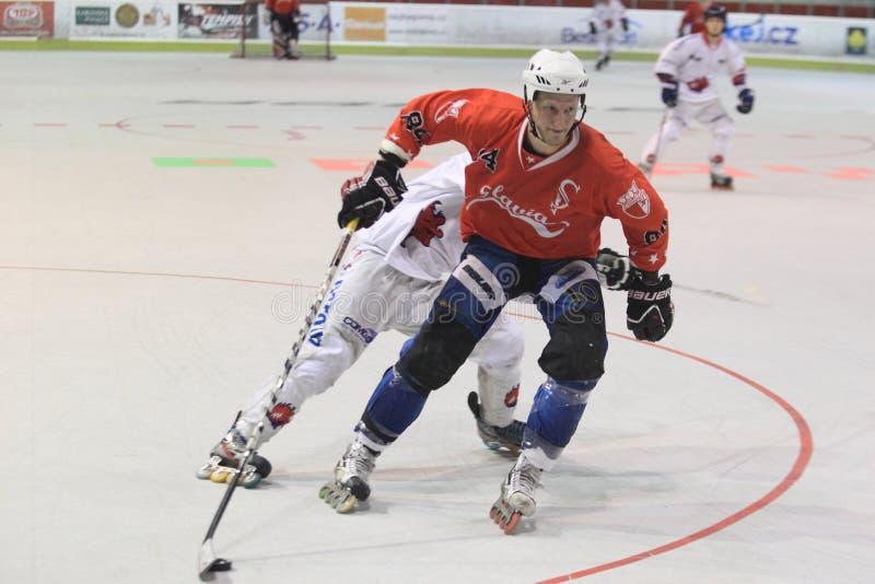 Чехословакская встроенная серия игр хоккея стоковое фото rf