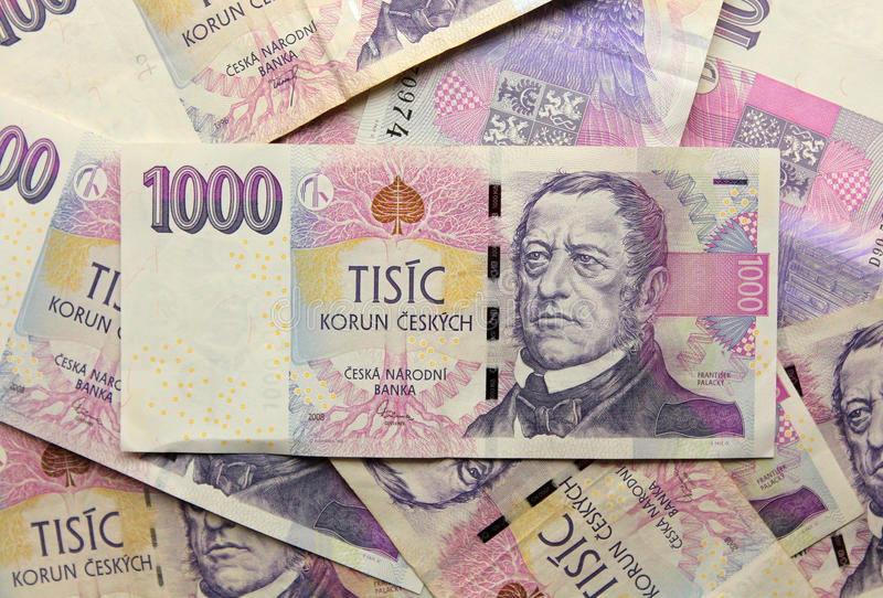 Чехословакские банкноты денег стоковое изображение rf