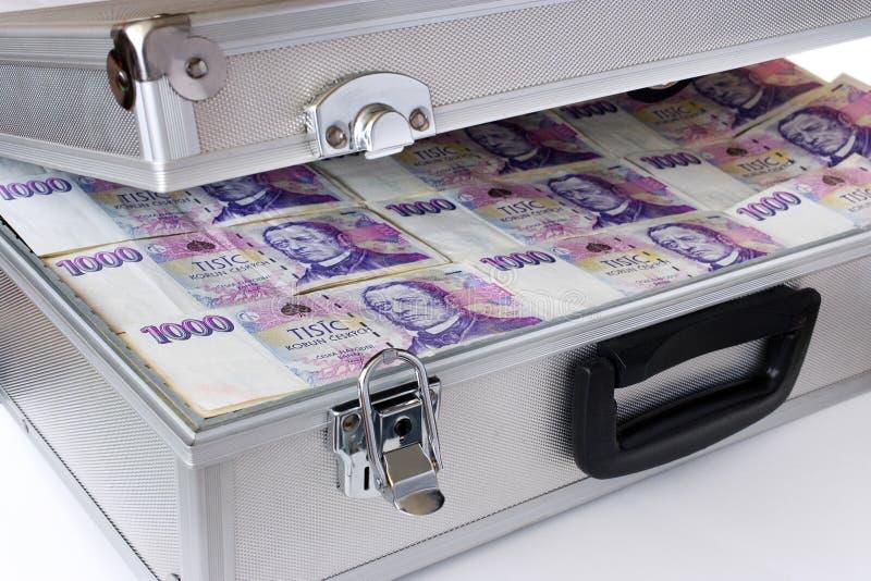 Чехословакские деньги - банкноты в случае стоковая фотография rf