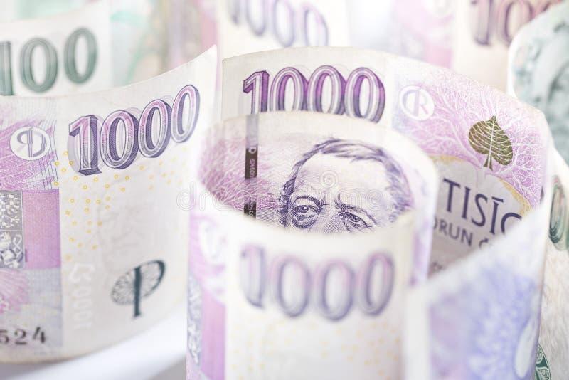чехословакские деньги стоковое фото rf