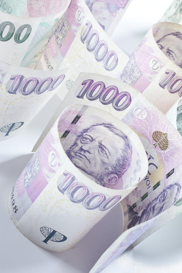чехословакские деньги стоковая фотография rf