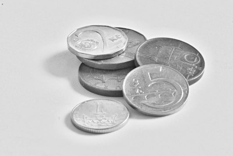 Чехословакские монетки, кроны стоковое фото