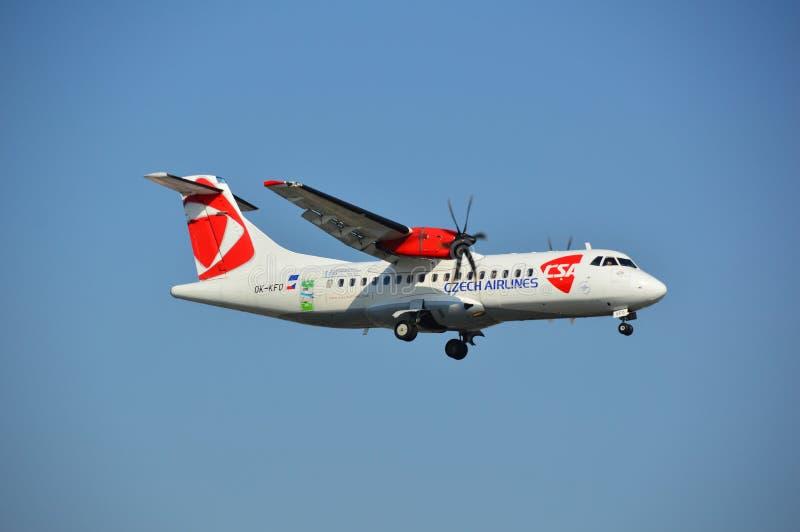 Чехословакский самолет авиакомпаний стоковая фотография