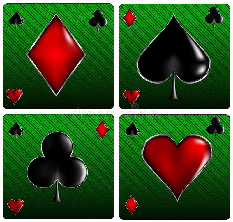 чешет знаки покера бесплатная иллюстрация