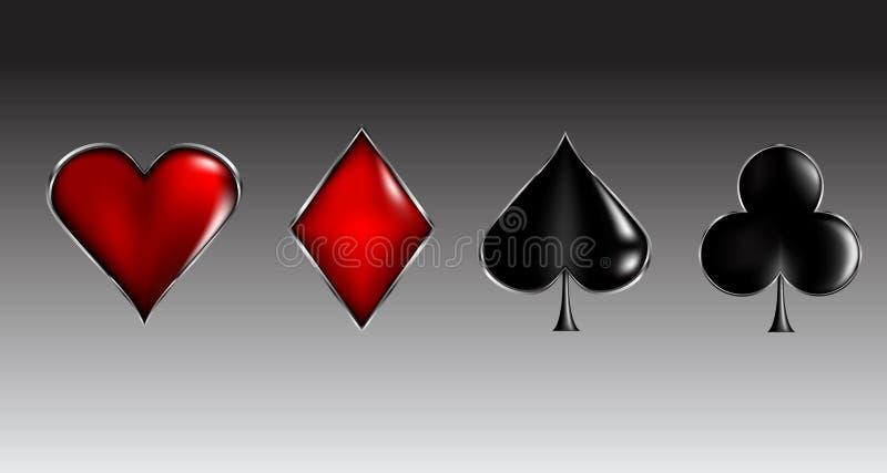 чешет знаки покера иллюстрация штока