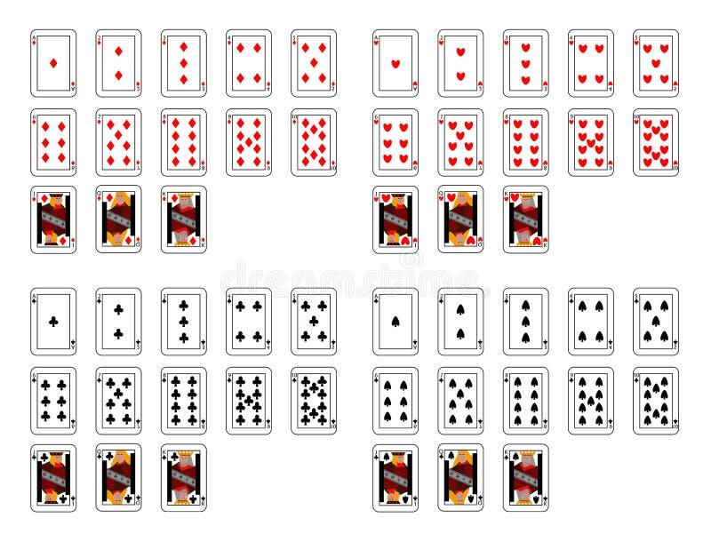 чешет покер иллюстрация штока