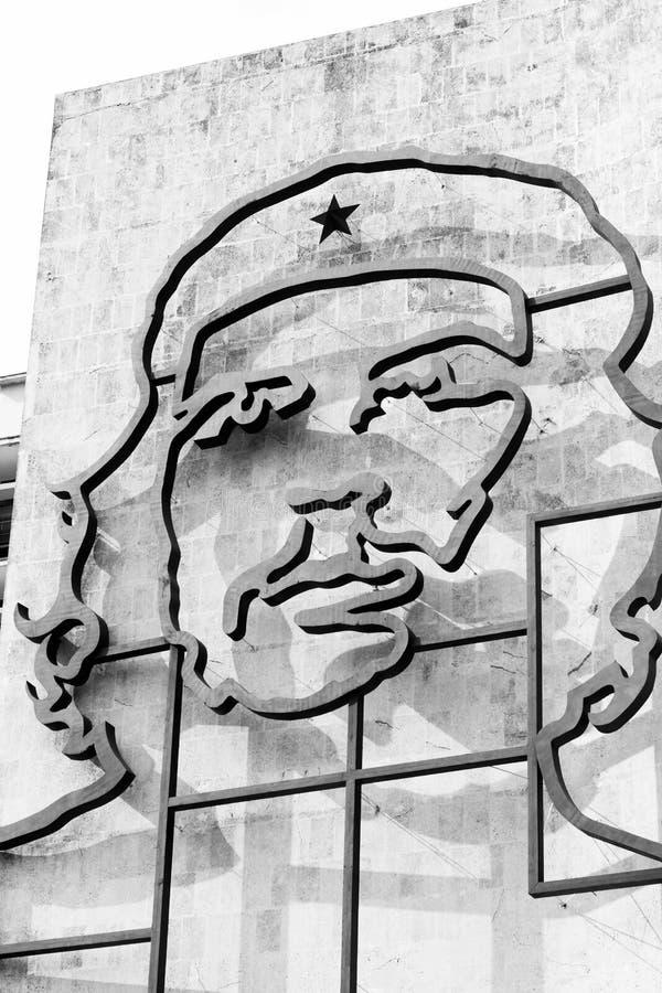 Че Гевара в квадрате Гаване революции стоковое изображение
