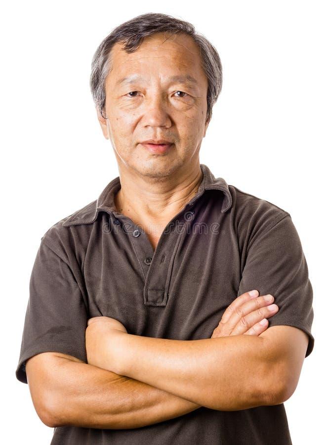 Человек азиата зрелый стоковая фотография rf