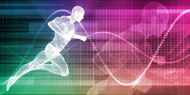 Человек бежать на предпосылке диаграммы бесплатная иллюстрация