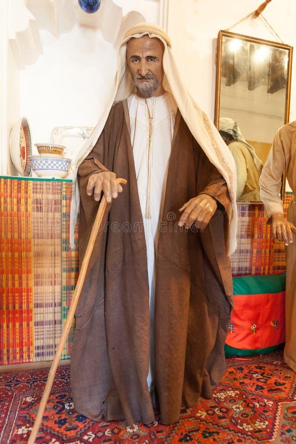 Человек бедуина в традиционном платье стоковое изображение