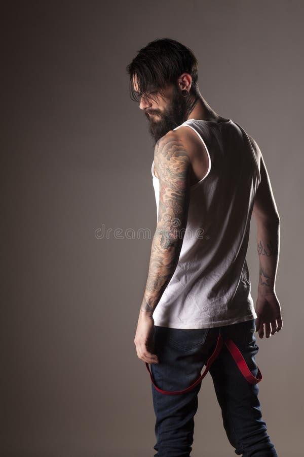 человек бороды стоковое изображение rf
