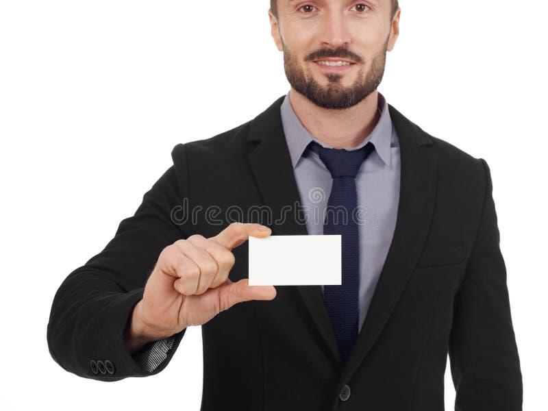 человек визитной карточки жизнерадостный стоковые фотографии rf