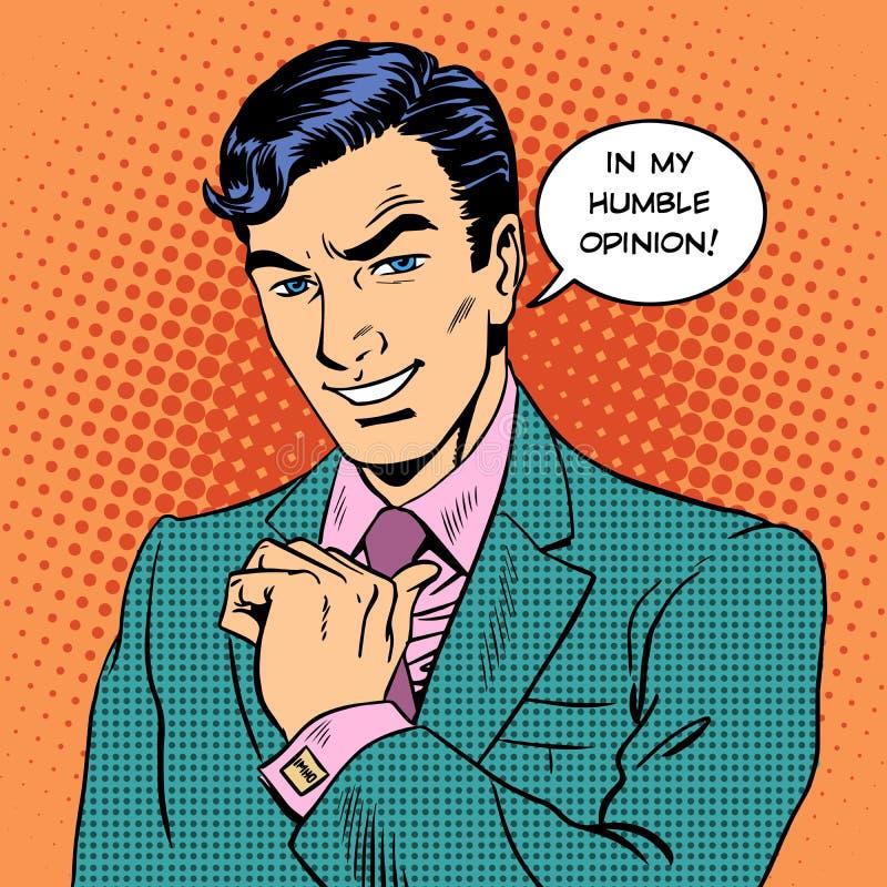 Человек всепокорного мнения бизнесмена красивый бесплатная иллюстрация
