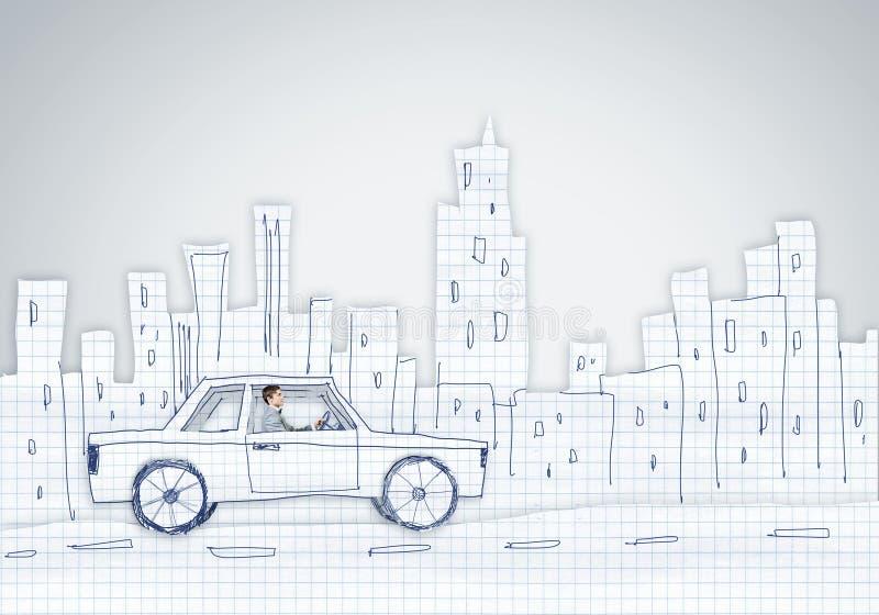 Download Человек в автомобиле иллюстрация штока. иллюстрации насчитывающей шарж - 41650368