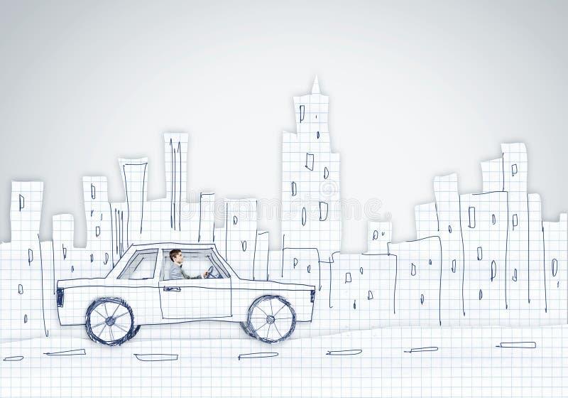 Download Человек в автомобиле иллюстрация штока. иллюстрации насчитывающей рука - 41651069