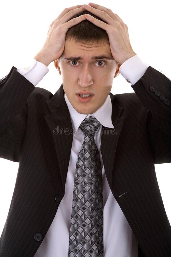 Человек в костюме на белизне стоковые изображения