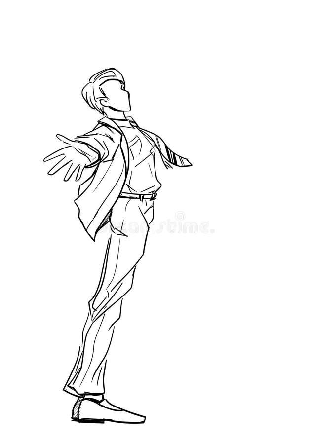 Download Человек в костюме иллюстрация вектора. иллюстрации насчитывающей бобра - 40591795