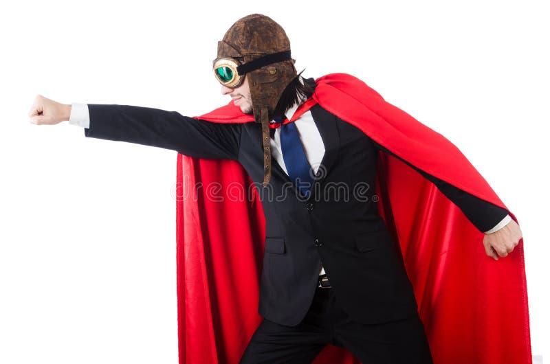 Человек в красной крышке стоковая фотография