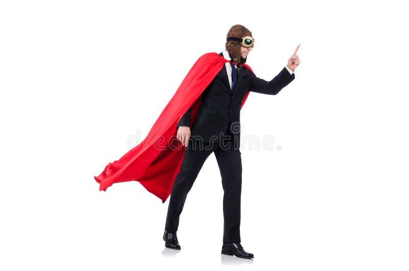 Человек в красной крышке стоковое фото