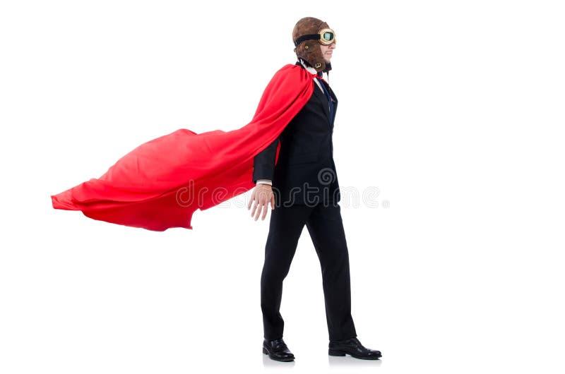Человек в красной крышке стоковое изображение rf