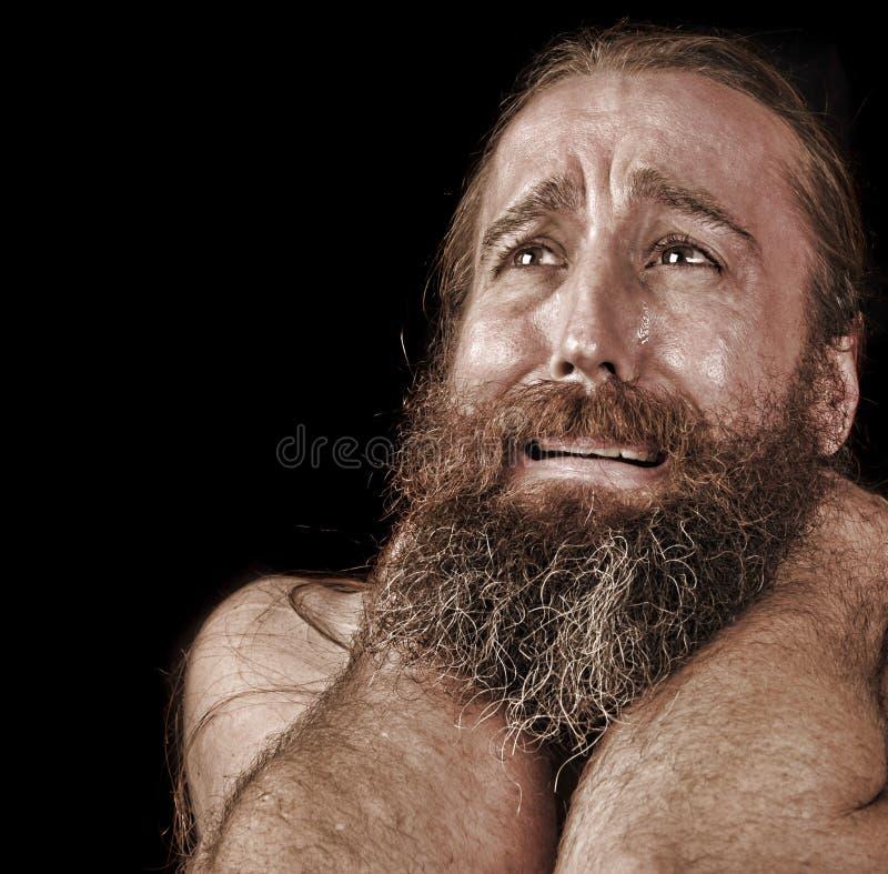 Человек в разрывах стоковая фотография