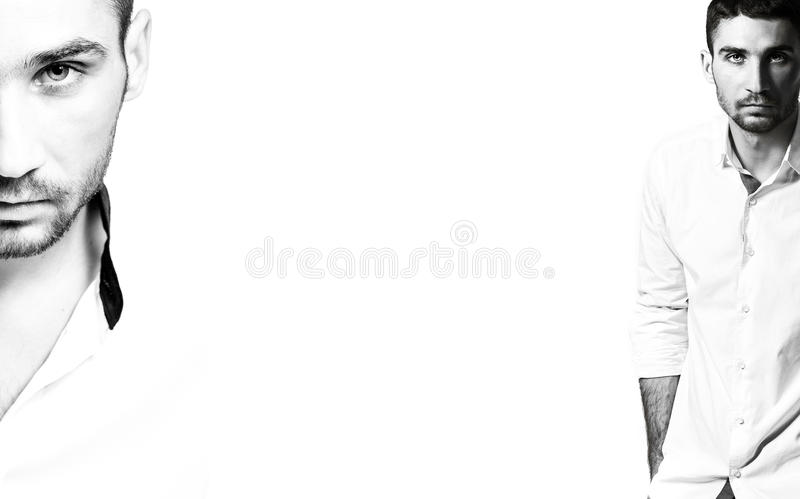 Человек в рубашке стоковые изображения rf