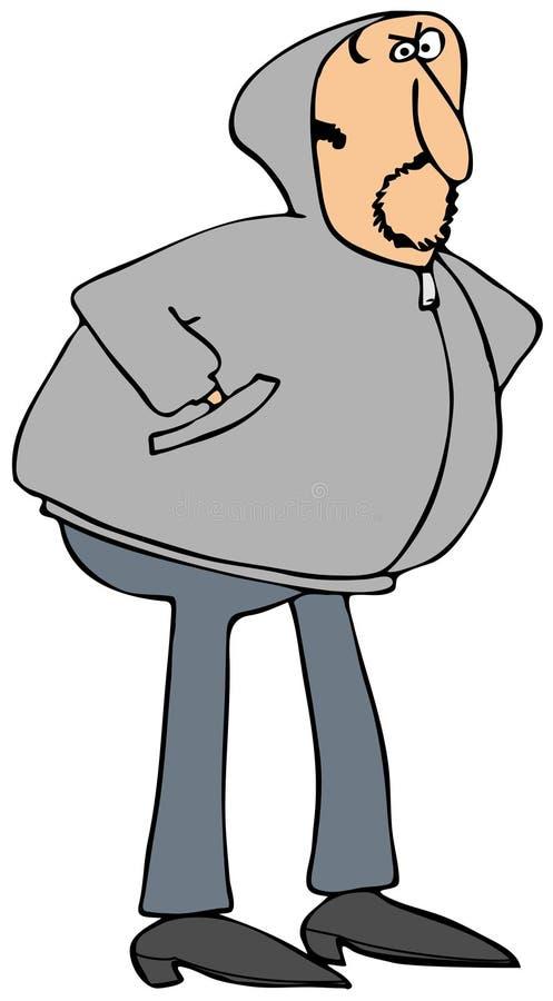 Человек в сером hoodie бесплатная иллюстрация